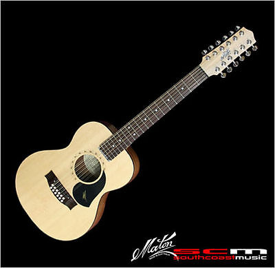 MINI MATON 12 STRING SOLID EMS12 ACOUSTIC ELECTRIC GUITAR w/ CASE BRAND NEW