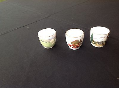 3 Bone China Egg Cups - Royal Worcester, Staffordshire And Grafton - English