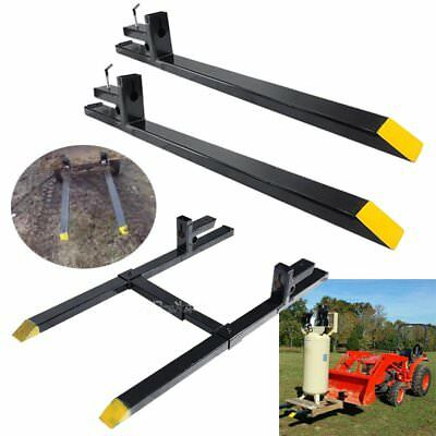 HD 1500lbs/2000lbs/4000lbs Clamp on Pallet Forks Loader Bucket Skidsteer Tractor