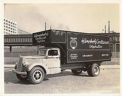 Mack Anchor Container Corporation Long Island City N.y. Truck Period Photograph.