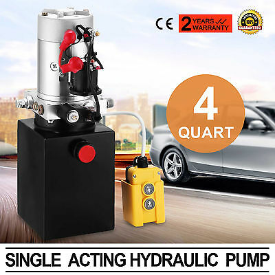 110V Electric Single Acting Manual Hydraulic Pump High Pressure Pump 3 Quart