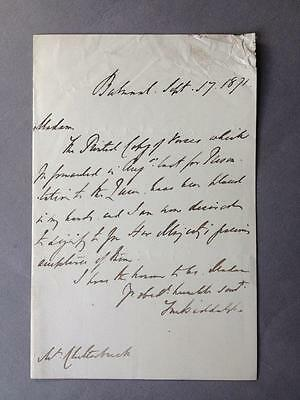 Thomas Myddelton Bidolph, Queen Victoria, Balmoral, ALS, SIGNED letter, 1871