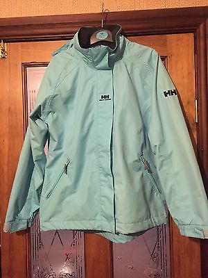 Girls HELLY HANSON coat rain proof jacket age 12 years Outdoor Clothing Blue