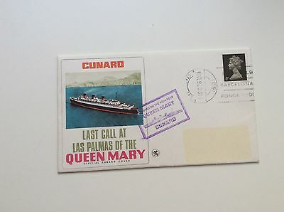 Final Visit Las Palmas Cunard Merchant Navy Ship Rms Queen Mary First Day Cover