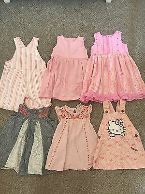 Baby Girls 12-18 Months Summer Bundle Next Smock Tops Dress Playsuit Pink