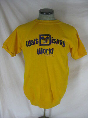 Vtg 50s 60s Disney Yellow Cotton Blend Mens Womens NWT NOS Dead Stock Sweat Shir