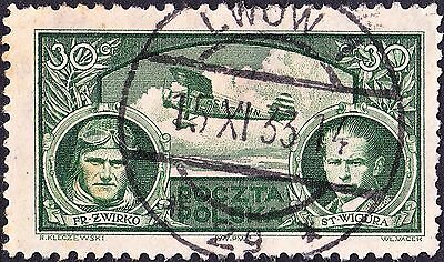 Poland 1933 30g Victory in Around Europe Air Race Used