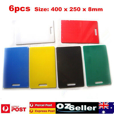 Set 6 New Polyethylene Cutting Boards Pe Chopping Colour Coded Haccp 250*400Mm