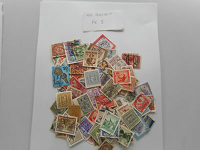 100 used postage stamps from AUSTRIA PK 3 NO DOUBLES
