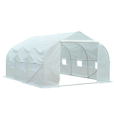 Outsunny 11.5 x 10' Walk-In Greenhouse Garden Plant Grow House Heavy Duty White