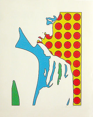 Werner Berges - FACE #3 - 2002, Pop Art Grafik original handsigniert und datiert