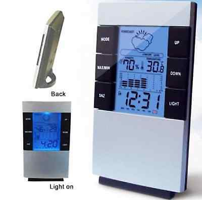Digital LCD Alarm Clock Weather Station Indoor Humidity Temp Brand New Hot Offer
