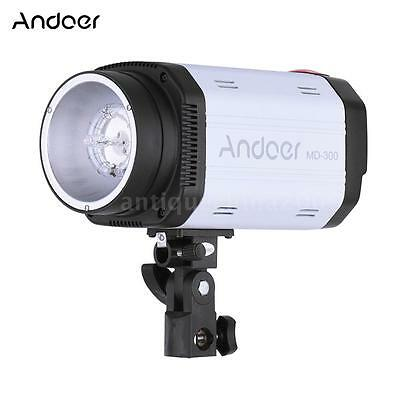 Andoer MD-300 300WS GN58 Studio Photo Strobe Flash with 50W Modeling Lamp D9U7