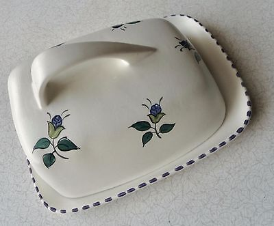 Poole Pottery Lidded Cheese/Butter Dish - rare pattern