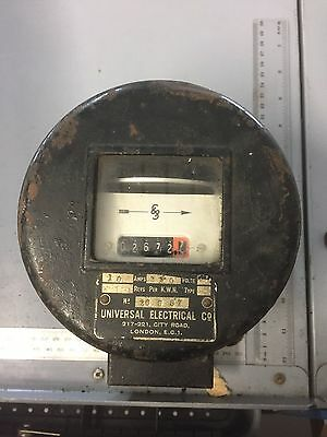 Old vintage Electricity meter by Universal Electrical