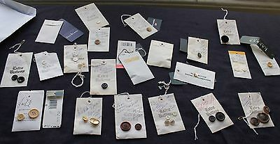 Ralph Lauren 36 Button Collection 5 Swing Tags Safari Snowflake Heritage 90's