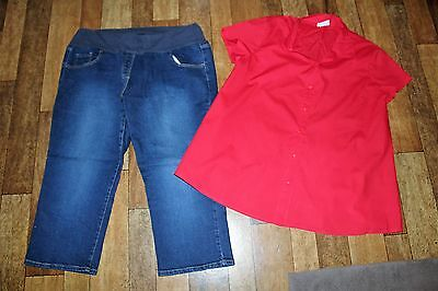Size 18 Maternity Denim Crop Pants & Top