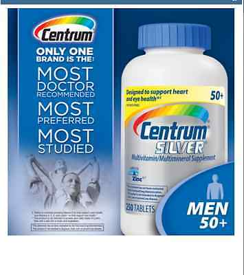 Centrum Silver ULTRA  Men 50+  250 Tablets  BLUE TOP- FREE WORLDWIDE SHIPPING !!