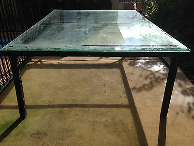 Powder Coated Aluminium and Toughened Glass Outdoor Table