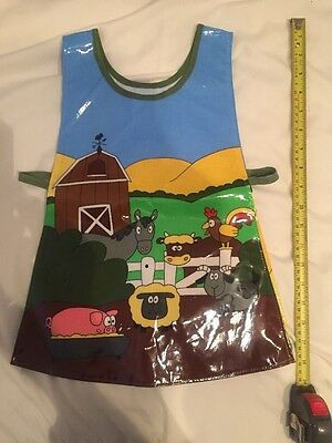Toddlers Farm Yard Arts And crafts Wipeable   Tabard Apron