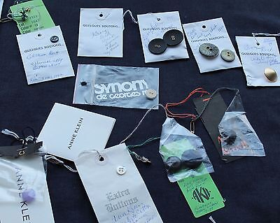 George Rech 8 Buttons & Anna Klein 5 Buttons 3 Swing Tags 90's Collectors