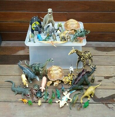 Bulk Collection Of Hard Plastic Dinosaurs