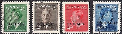 Canada KGVI 1949-50 OHMS Used Selection