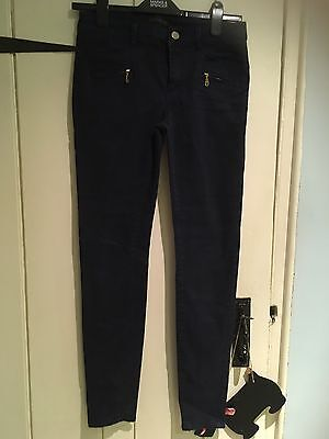 River Island Navy Jean Effect Style Trousers - Size 8