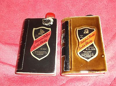 Two Vintage Spirit Of Scotland Ceramic Whisky Book Miniature Flasks