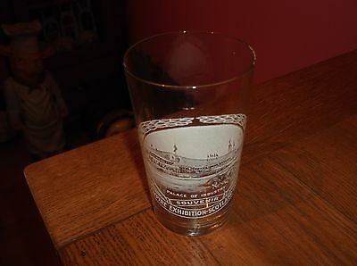Rare Empire Exhibition Scotland 1938 Palace Of Industry Glass Tumbler