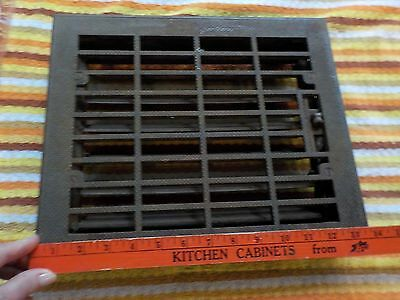 12x14 Vintage Iron Steel Floor Wall Louvered Register Heat Vent Grate