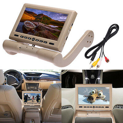 "In Car Center Console 8.5"" Armrest Dvd Player Monitor Rotating Screen Headphones"