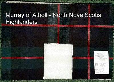 8 Different Swatches of Regimental Tartans (Offcuts)