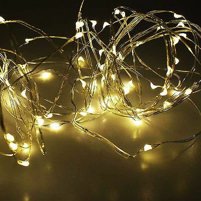 2Pcs 10M LED Christmas Indoor Outdoor Warm White String Fairy Light Decoration