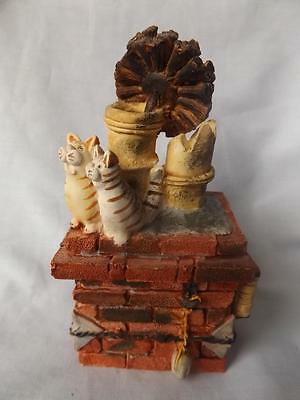 1993 Chimney Sweep Cats By Peter Fagan Hand Signed By Peter