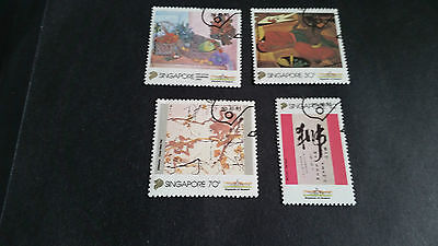 Singapore 1995 Sg 818-821 Local Artists (2Nd Series) , Fine Used
