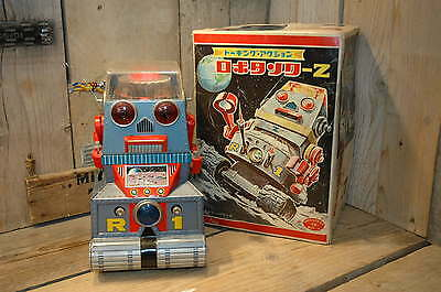 Nomura - Robot Space Tank R-1 with original Japanese box !  Made in Japan