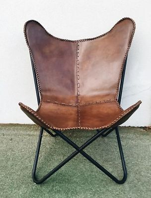 Leather Butterfly Hand Made Chair/relaxing Chair (Genuine Leather Hand Made)