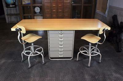 Bowling Alley~Art Cabinet~Craft~Hobby Table~Industrial WorkBench~Stools~Drafting