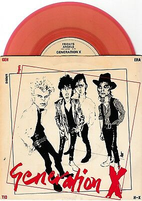 "Generation X Billy Idol Red Vinyl 7"" Single P/s * Friday's Angels *"