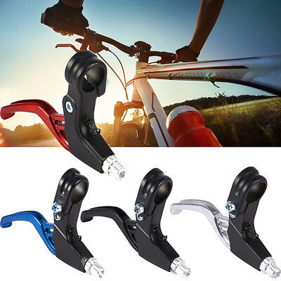 2x Brake Lever Fixed Gear Brake Handles For Mountain Bike Bicycle Aluminum Alloy