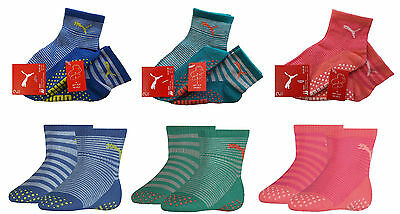 4 Paar Puma Abs Socken Stoppersocken - Baby Kinder Antirutsch Fliesenflitzer