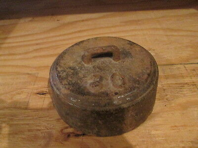 Vintage  Iron 27lb Horse Buggy Wagon Hitching Weight Tether Doorstop