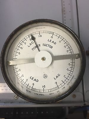 Vintage Power factor meter