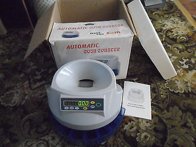 Automatic UK Coin Counter Sorter Money Cash Counting Electronic Machine Digital