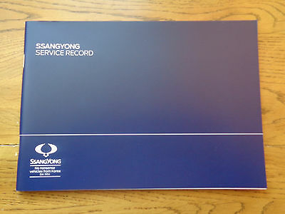 Ssangyong Service History Book