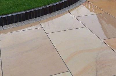 CARAMEL BUFF Smooth Surface, 6 Side Sawn Indian Sandstone Paving 600Pack 19.50m2