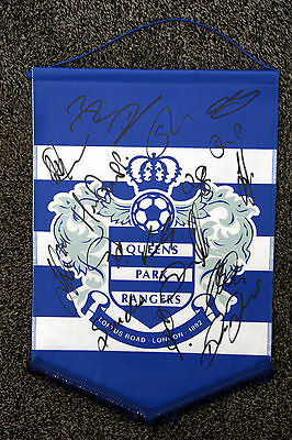 QUEENS PARK RANGERS signed pennant 2014/15 - Signed by 17 QPR - HARRY REDKNAPP