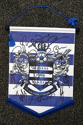 QUEENS PARK RANGERS signed pennant 2014/15 - Signed by 18 - QPR - HARRY REDKNAPP