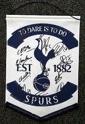 TOTTENHAM HOTSPUR signed pennant 2014/15 - Signed by 13 - SPURS